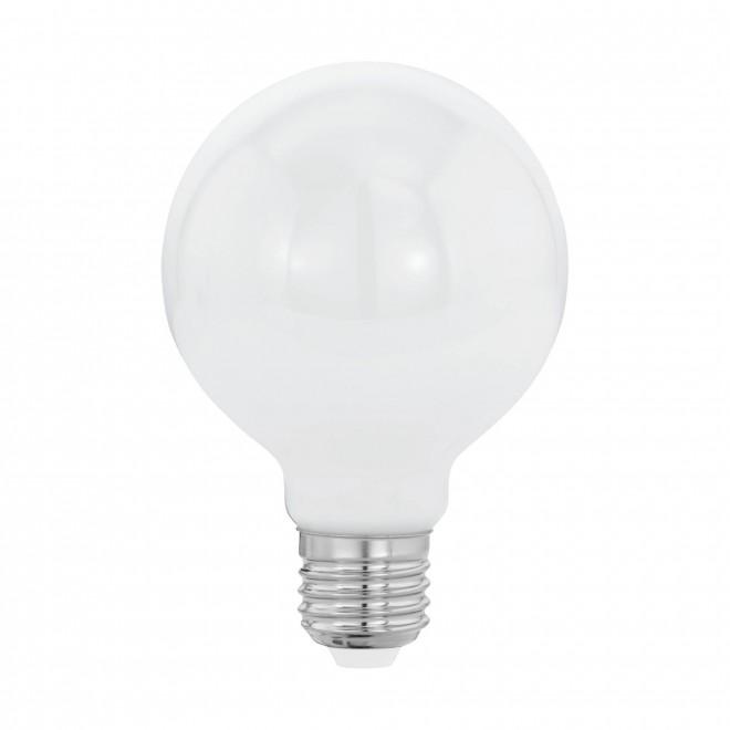 EGLO 11598   E27 8W -> 60W Eglo velika kugla G80 LED izvori svjetlosti filament, milky 806lm 2700K 360° CRI>80