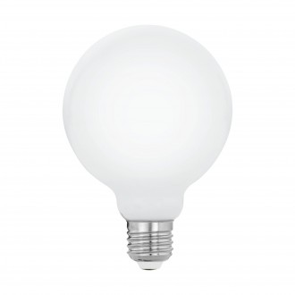 EGLO 11599 | E27 5W -> 40W Eglo velika kugla G95 LED izvori svjetlosti filament, milky 470lm 2700K 360° CRI>80