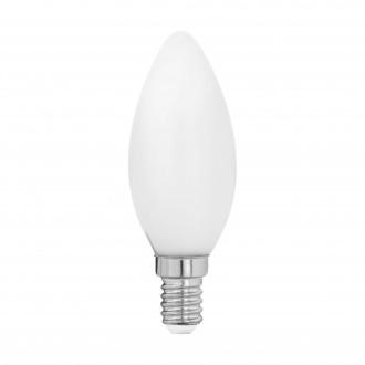 EGLO 11602 | E14 4W -> 40W Eglo oblik svijeće C35 LED izvori svjetlosti filament, milky 470lm 2700K 360° CRI>80