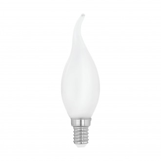 EGLO 11603 | E14 4W -> 40W Eglo dekorativna plamen FC35 LED izvori svjetlosti filament, milky 470lm 2700K 360° CRI>80