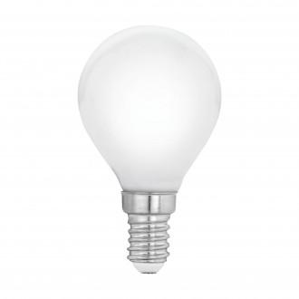 EGLO 11604 | E14 4W -> 40W Eglo mala kugla P45 LED izvori svjetlosti filament, milky 470lm 2700K 360° CRI>80