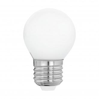 EGLO 11605 | E27 4W -> 40W Eglo mala kugla G45 LED izvori svjetlosti filament, milky 470lm 2700K 360° CRI>80