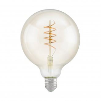 EGLO 11683 | E27 4W -> 25W Eglo velika kugla G125 LED izvori svjetlosti filament, Spiral 260lm 2200K 360° CRI>80