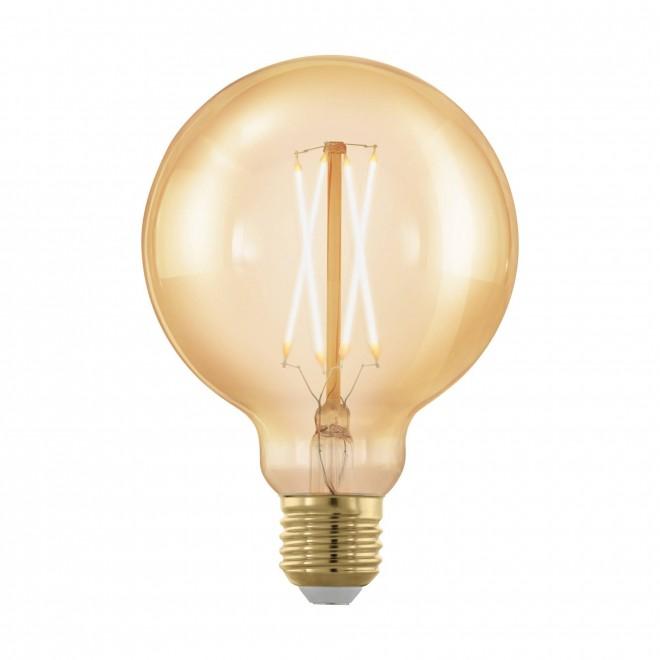 EGLO 11693 | E27 4W -> 30W Eglo velika kugla G95 LED izvori svjetlosti filament, golden age 320lm 1700K jačina svjetlosti se može podešavati 360° CRI>80