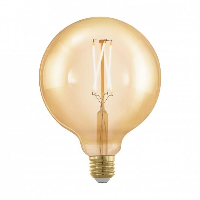 EGLO 11694 | E27 4W -> 30W Eglo velika kugla G125 LED izvori svjetlosti filament, golden age 320lm 1700K jačina svjetlosti se može podešavati 360° CRI>80