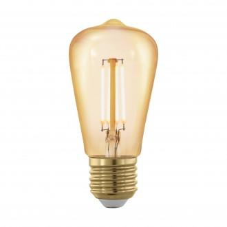 EGLO 11695 | E27 4W -> 30W Eglo Edison ST48 LED izvori svjetlosti filament, golden age 320lm 1700K jačina svjetlosti se može podešavati 360° CRI>80