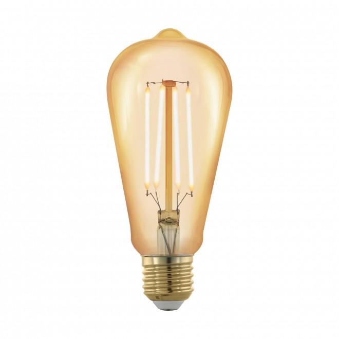 EGLO 11696 | E27 4W -> 30W Eglo Edison ST64 LED izvori svjetlosti filament, golden age 320lm 1700K jačina svjetlosti se može podešavati 360° CRI>80