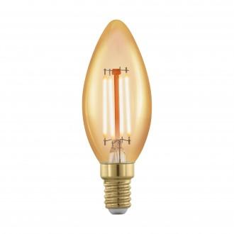 EGLO 11698 | E14 4W -> 30W Eglo oblik svijeće C37 LED izvori svjetlosti filament, golden age 320lm 1700K jačina svjetlosti se može podešavati 360° CRI>80