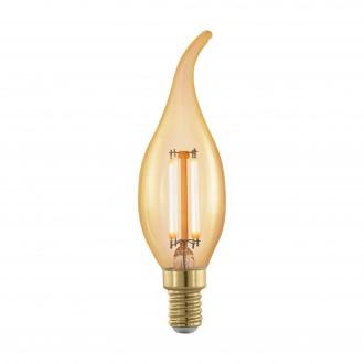EGLO 11699 | E14 4W -> 30W Eglo dekorativna plamen FC35 LED izvori svjetlosti filament, golden age 320lm 1700K jačina svjetlosti se može podešavati 360° CRI>80
