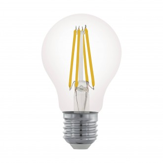 EGLO 11701 | E27 6W -> 60W Eglo obični A60 LED izvori svjetlosti filament 806lm 2700K jačina svjetlosti se može podešavati 360° CRI>80