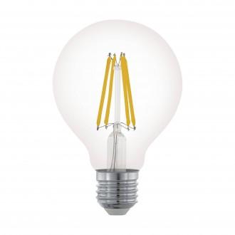 EGLO 11702 | E27 6W -> 60W Eglo velika kugla G80 LED izvori svjetlosti filament 806lm 2700K jačina svjetlosti se može podešavati 360° CRI>80