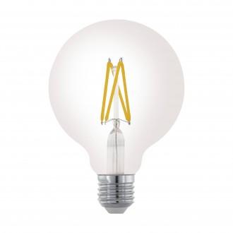 EGLO 11703 | E27 6W -> 60W Eglo velika kugla G95 LED izvori svjetlosti filament 806lm 2700K jačina svjetlosti se može podešavati 360° CRI>80