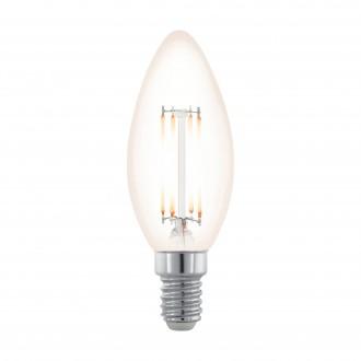 EGLO 11708 | E14 3,5W -> 28W Eglo oblik svijeće C35 LED izvori svjetlosti filament, northern lights 300lm 2200K jačina svjetlosti se može podešavati 360° CRI>80