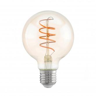 EGLO 11722 | E27 4W -> 25W Eglo velika kugla G80 LED izvori svjetlosti filament, Spiral 260lm 2200K 360° CRI>80