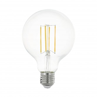 EGLO 11756 | E27 8W -> 75W Eglo velika kugla G95 LED izvori svjetlosti filament 1055lm 2700K 320° CRI>80