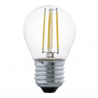 EGLO 11762 | E27 4W -> 40W Eglo mala kugla G45 LED izvori svjetlosti filament 470lm 2700K 320° CRI>80