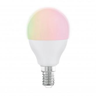 EGLO 11857 | E14 5W -> 35W Eglo mala kugla P45 LED izvori svjetlosti RGBTW smart rasvjeta 470lm 2700 <-> 6500K jačina svjetlosti se može podešavati, sa podešavanjem temperature boje, promjenjive boje, može se upravljati daljinskim upravljačem CRI