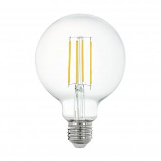 EGLO 11863 | E27 6W -> 60W Eglo velika kugla G95 LED izvori svjetlosti filament smart rasvjeta 806lm 2700K jačina svjetlosti se može podešavati, može se upravljati daljinskim upravljačem CRI>80
