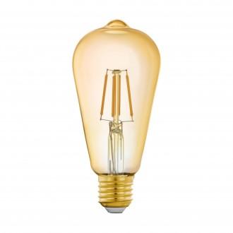 EGLO 11865 | E27 5,5W -> 41W Eglo Edison ST64 LED izvori svjetlosti filament smart rasvjeta 500lm 2200K jačina svjetlosti se može podešavati, može se upravljati daljinskim upravljačem CRI>80