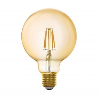 EGLO 11866 | E27 5,5W -> 41W Eglo velika kugla G95 LED izvori svjetlosti filament smart rasvjeta 500lm 2200K jačina svjetlosti se može podešavati, može se upravljati daljinskim upravljačem CRI>80