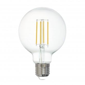 EGLO 12571 | E27 6W -> 60W Eglo velika kugla G80 LED izvori svjetlosti filament smart rasvjeta 806lm 2700K jačina svjetlosti se može podešavati, može se upravljati daljinskim upravljačem CRI>80