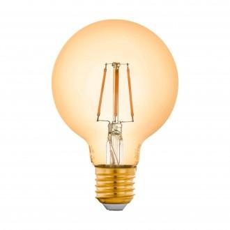 EGLO 12572 | E27 5,5W -> 41W Eglo velika kugla G80 LED izvori svjetlosti filament smart rasvjeta 500lm 2200K jačina svjetlosti se može podešavati, može se upravljati daljinskim upravljačem CRI>80