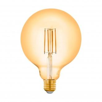 EGLO 12573 | E27 6W -> 50W Eglo velika kugla G125 LED izvori svjetlosti filament smart rasvjeta 650lm 2200K jačina svjetlosti se može podešavati, može se upravljati daljinskim upravljačem CRI>80