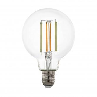 EGLO 12575 | E27 6W -> 60W Eglo velika kugla G80 LED izvori svjetlosti CCT filament smart rasvjeta 806lm 2200 <-> 6500K jačina svjetlosti se može podešavati, sa podešavanjem temperature boje, može se upravljati daljinskim upravljačem CRI>80