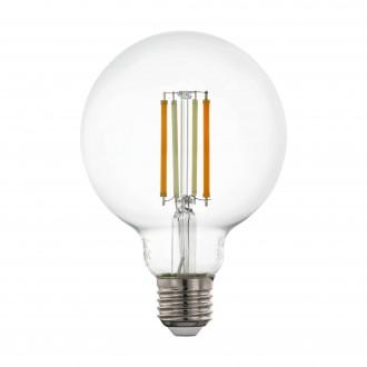 EGLO 12576 | E27 6W -> 60W Eglo velika kugla G95 LED izvori svjetlosti CCT filament smart rasvjeta 806lm 2200 <-> 6500K jačina svjetlosti se može podešavati, sa podešavanjem temperature boje, može se upravljati daljinskim upravljačem CRI>80