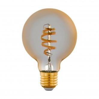 EGLO 12579 | E27 5,5W -> 35W Eglo velika kugla G80 LED izvori svjetlosti CCT filament smart rasvjeta 400lm 2200 <-> 6500K jačina svjetlosti se može podešavati, sa podešavanjem temperature boje, može se upravljati daljinskim upravljačem CRI>80
