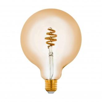 EGLO 12582 | E27 5,5W -> 35W Eglo velika kugla G125 LED izvori svjetlosti CCT filament smart rasvjeta 400lm 2200 <-> 6500K jačina svjetlosti se može podešavati, sa podešavanjem temperature boje, može se upravljati daljinskim upravljačem CRI>80