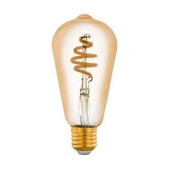 EGLO 12583 | E27 5,5W -> 35W Eglo Edison ST64 LED izvori svjetlosti CCT filament smart rasvjeta 400lm 2200 <-> 6500K jačina svjetlosti se može podešavati, sa podešavanjem temperature boje, može se upravljati daljinskim upravljačem CRI>80