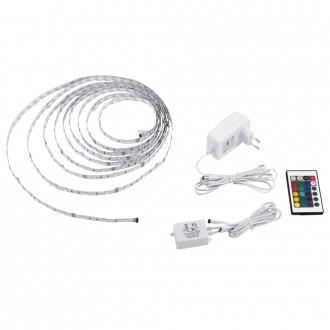 EGLO 13533 | Eglo-LS-Basic Eglo LED traka RGB svjetiljka daljinski upravljač jačina svjetlosti se može podešavati, promjenjive boje 1x LED RGBK bijelo