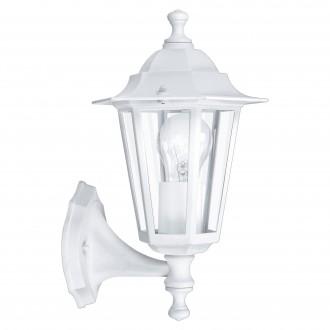 EGLO 22463 | Laterna8 Eglo zidna svjetiljka 1x E27 IP44 bijelo, prozirna