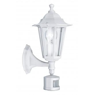 EGLO 22464 | Laterna8 Eglo zidna svjetiljka sa senzorom 1x E27 IP44 bijelo, prozirno