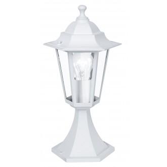 EGLO 22466 | Laterna8 Eglo podna svjetiljka 40,5cm 1x E27 IP44 bijelo, prozirno