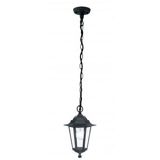 EGLO 22471 | Laterna8 Eglo visilice svjetiljka 1x E27 IP44 crno, prozirna