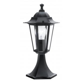 EGLO 22472 | Laterna8 Eglo podna svjetiljka 40,5cm 1x E27 IP44 crno, prozirno
