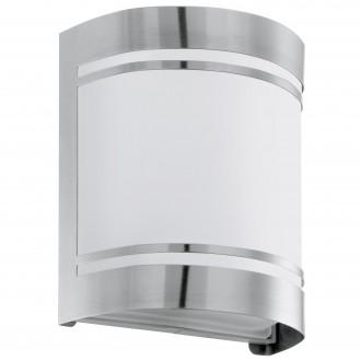 EGLO 30191 | Cerno Eglo zidna svjetiljka 1x E27 IP44 plemeniti čelik, čelik sivo, bijelo, saten