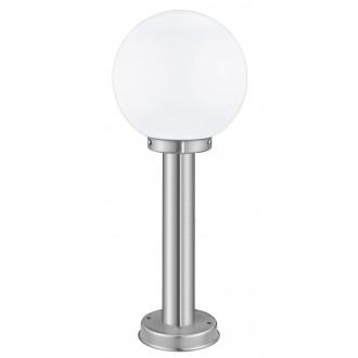 EGLO 30206 | Nisia Eglo podna svjetiljka 50cm 1x E27 IP44 plemeniti čelik, čelik sivo, bijelo