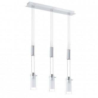 EGLO 31503 | Aggius Eglo visilice svjetiljka balansna - ravnotežna, sa visinskim podešavanjem 3x LED 1200lm 3000K krom, bijelo, prozirna
