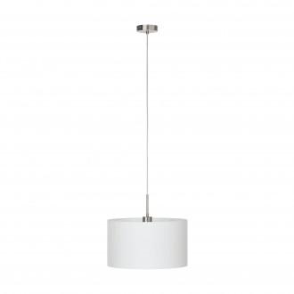 EGLO 31571 | Eglo_Pasteri_W Eglo visilice svjetiljka 1x E27 bijelo mat, poniklano mat