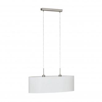 EGLO 31579 | Eglo-Pasteri-W Eglo visilice svjetiljka 2x E27 bijelo mat, poniklano mat