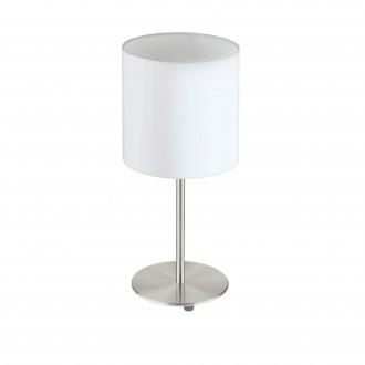 EGLO 31594 | Eglo-Pasteri-W Eglo stolna svjetiljka 40cm sa prekidačem na kablu 1x E27 bijelo mat, poniklano mat