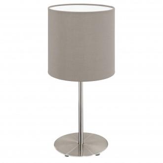 EGLO 31595 | Eglo-Pasteri-T Eglo stolna svjetiljka 40cm sa prekidačem na kablu 1x E27 mat taupe, bijelo, poniklano mat