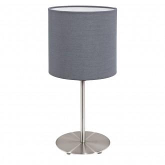 EGLO 31596 | Eglo-Pasteri-G Eglo stolna svjetiljka 40cm sa prekidačem na kablu 1x E27 mat sivo, bijelo, poniklano mat