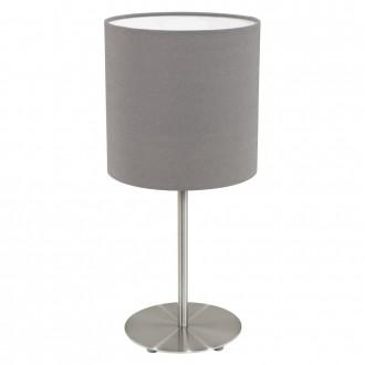 EGLO 31597 | Eglo-Pasteri-A Eglo stolna svjetiljka 40cm sa prekidačem na kablu 1x E27 mat braon, bijelo, poniklano mat