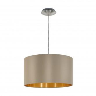 EGLO 31602 | Eglo-Maserlo-T Eglo visilice svjetiljka 1x E27 taupe, zlatno, poniklano mat