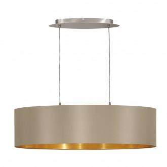 EGLO 31613 | Eglo-Maserlo-T Eglo visilice svjetiljka 2x E27 taupe, zlatno, poniklano mat