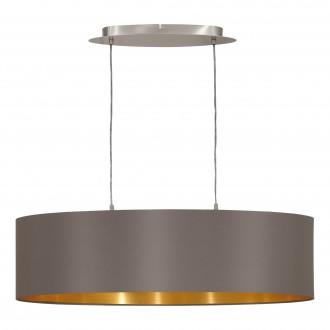 EGLO 31614   Eglo-Maserlo-C Eglo visilice svjetiljka 2x E27 svijetlucavi cappuchino, zlatno, poniklano mat